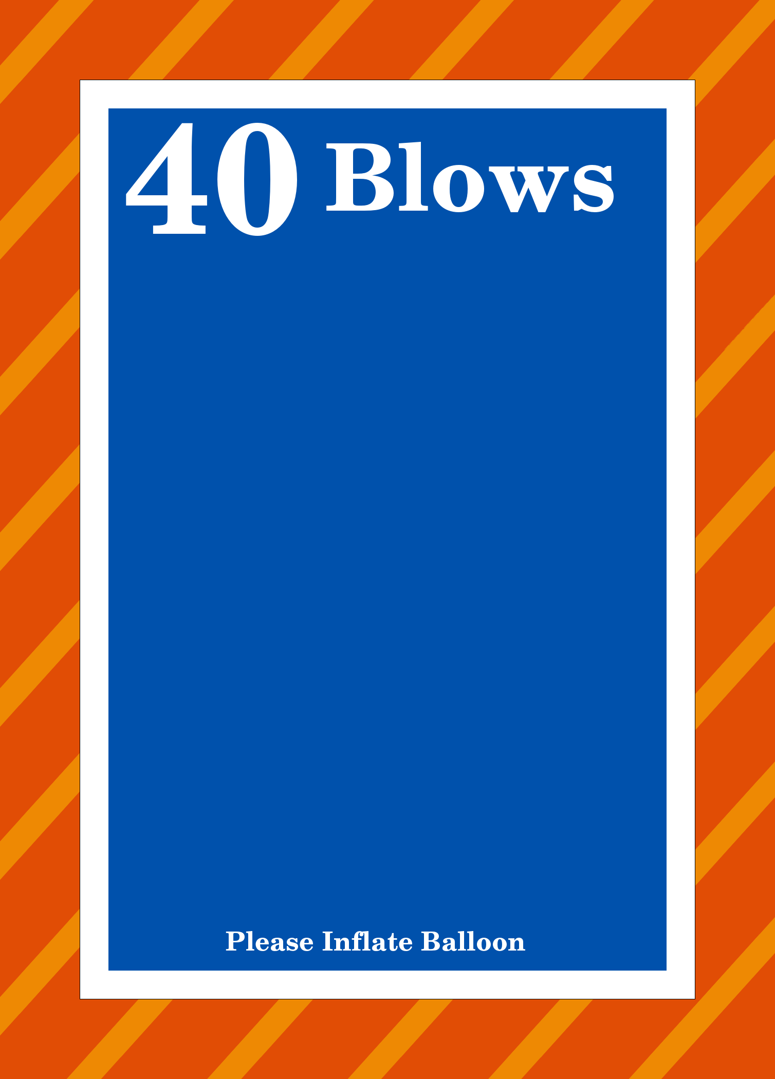 40 Blows Balloon Invitation - Click Image to Close