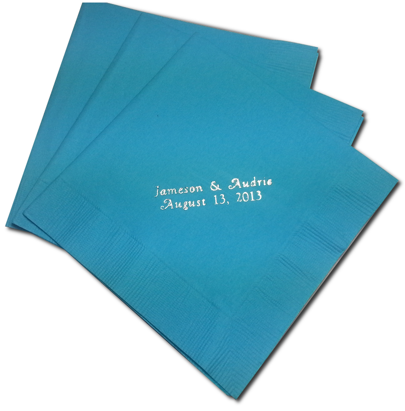 Customized Lunch Napkins - 50 Count - Click Image to Close